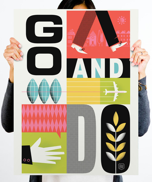 Graphic Design Inspiration: Brad Woodard Poster