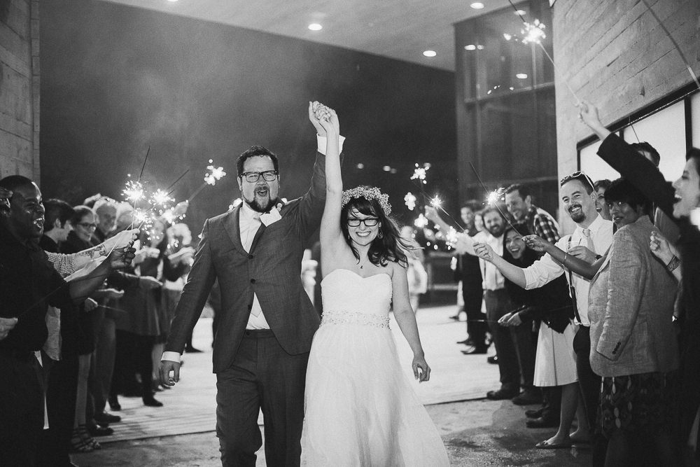 Sparkler Exit from Wedding