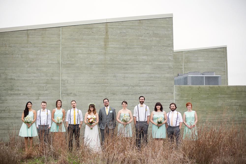 Wedding Party at Trinity River Audubon Center