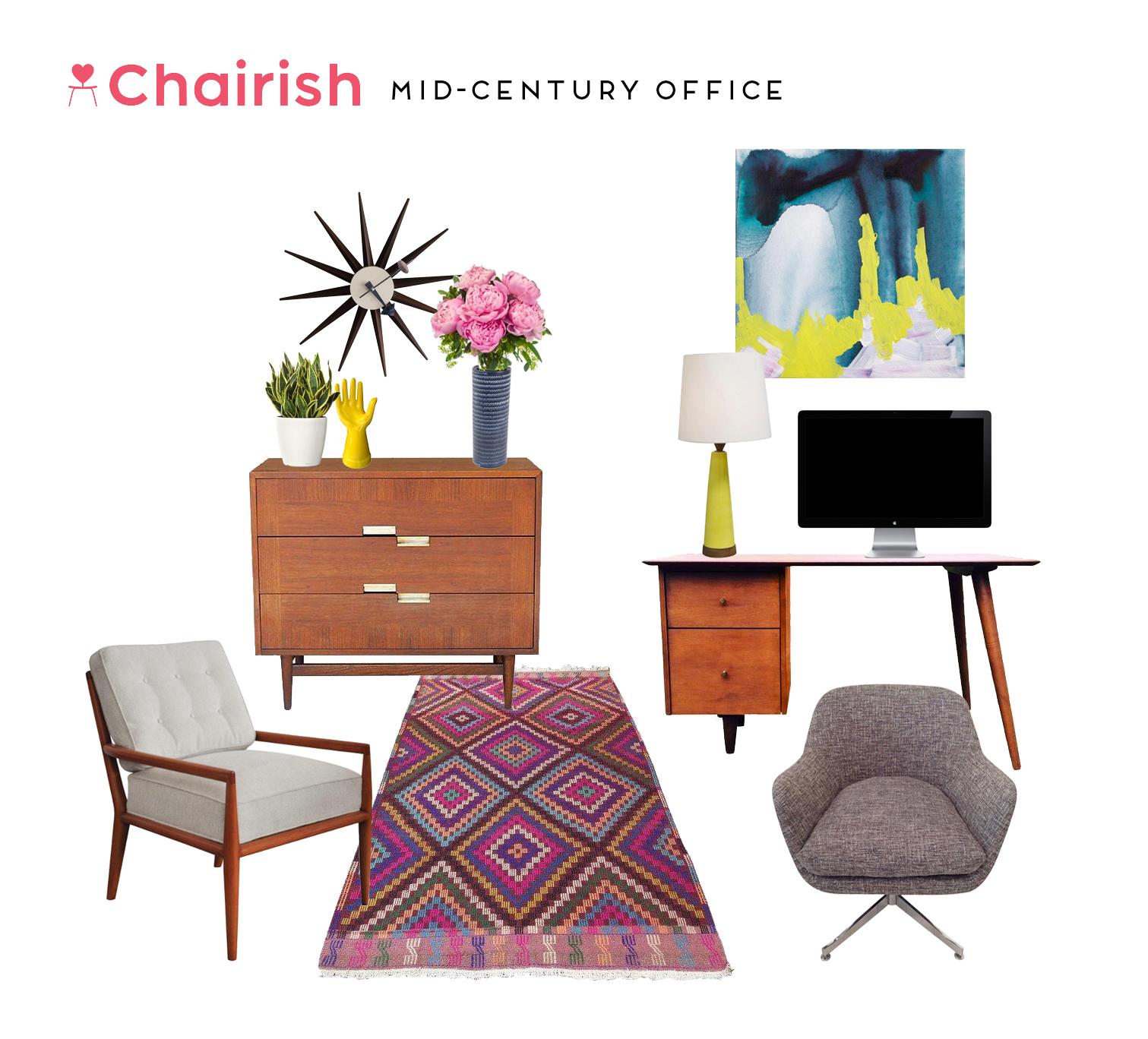 Mid-Century Style Challenge: The Office