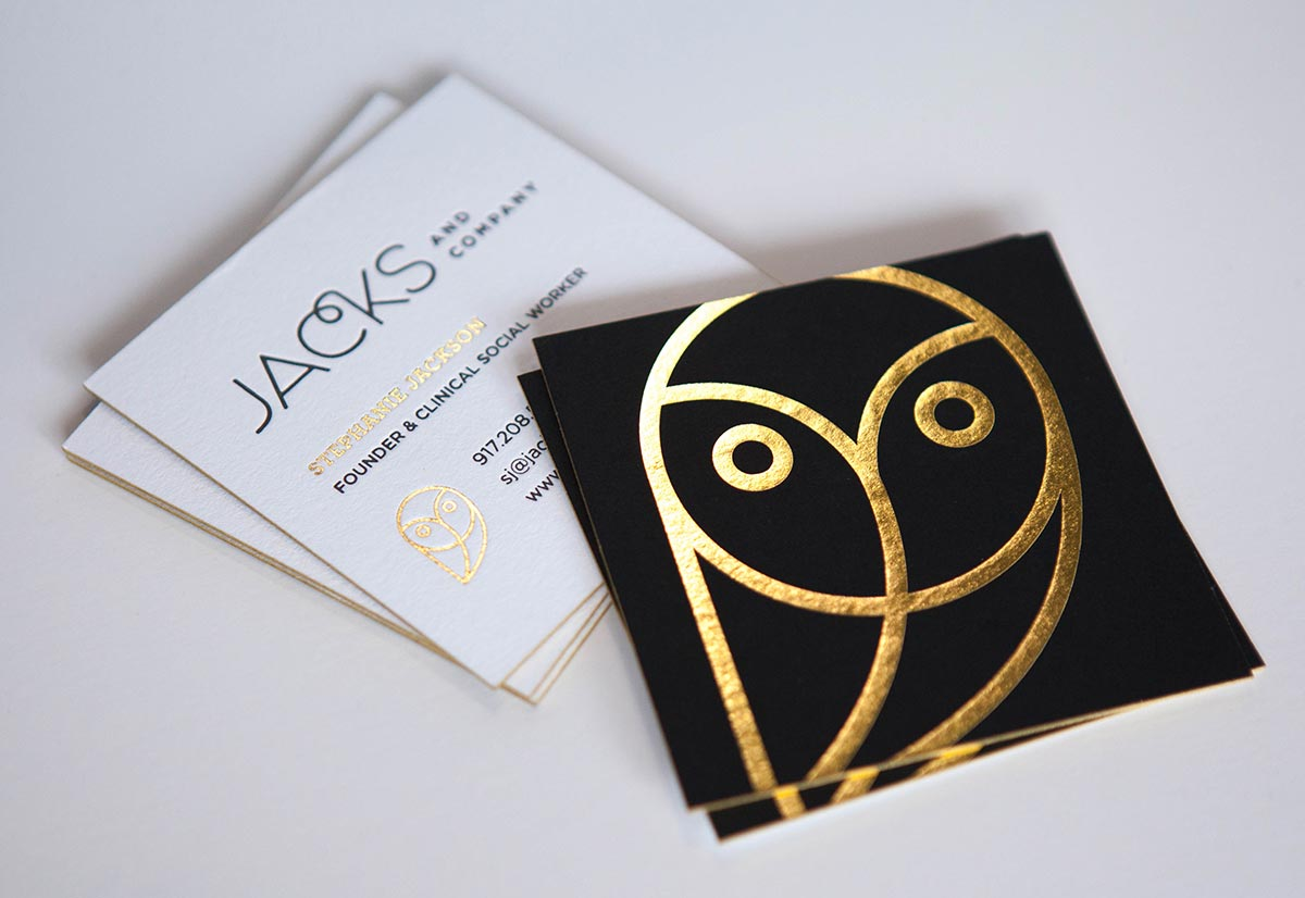 Luxury Business Card Design for Jacks & Co in Dallas