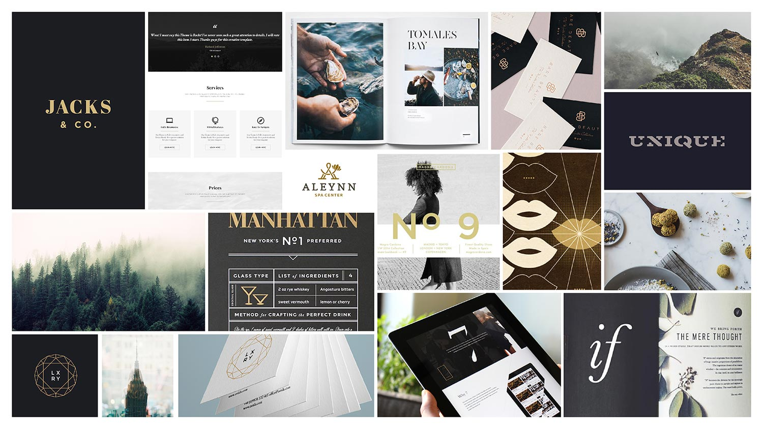 Moodboard for Jacks & Company - DFW Design Process