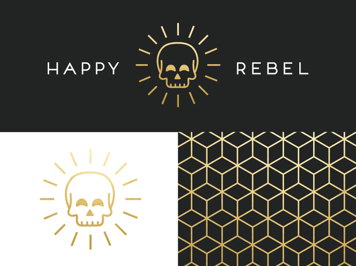 Happy Rebel - Skull Logo Design