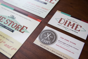 The DIME Store Promotional Postcard Design