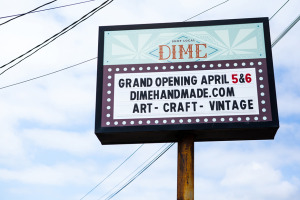 The DIME Store in Denton, TX - Signage