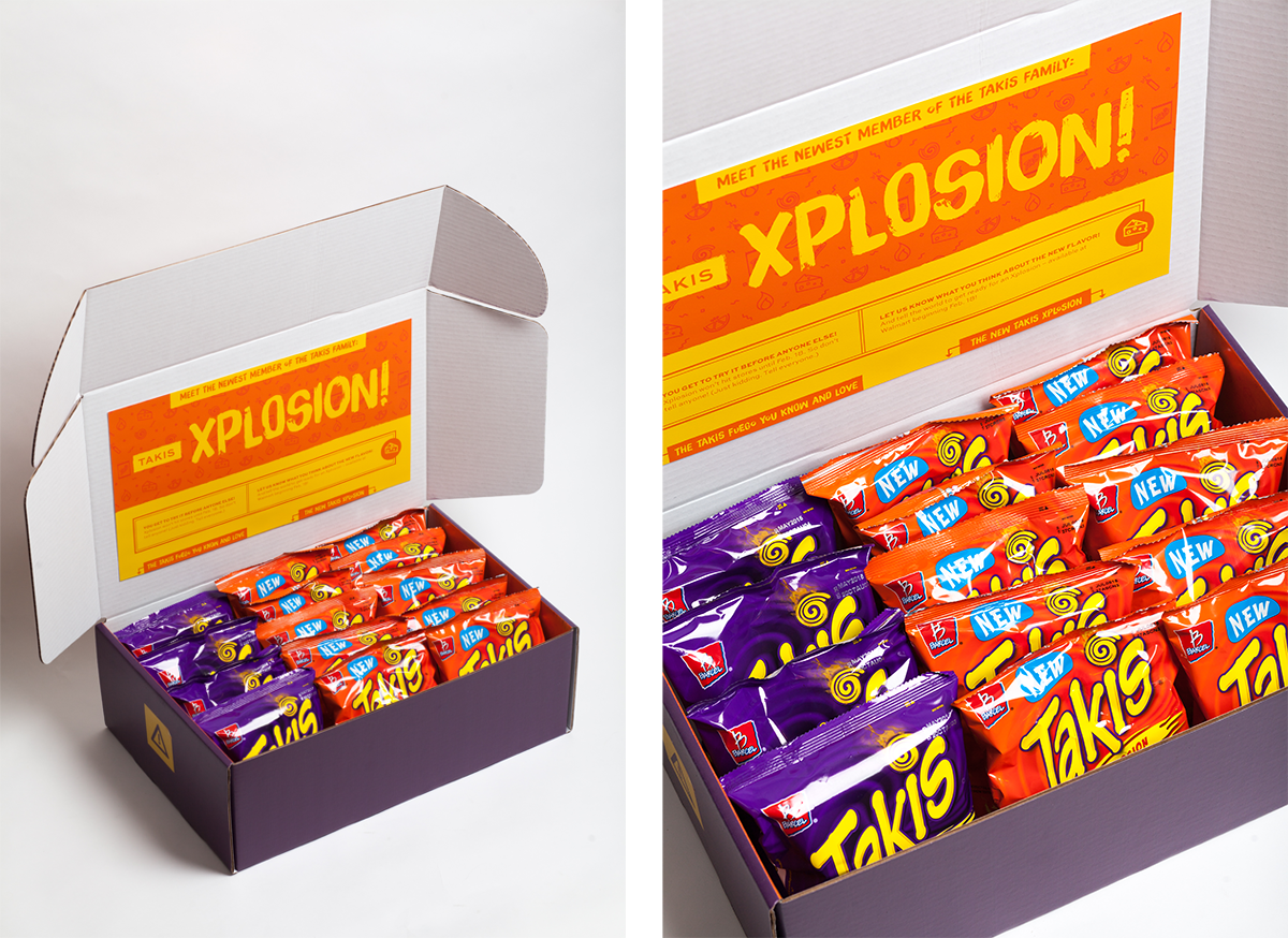 Shipping Box Design for Takis