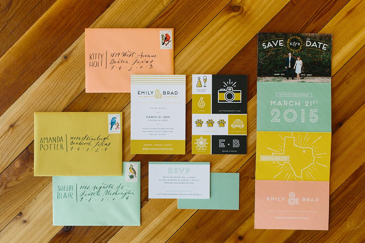 Graphic Design Wedding Invitations: Emily Holt » Freelance Graphic Designer » Dallas, Texas