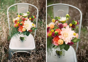 A Rose in Bloom wedding bouquet with Billy Balls
