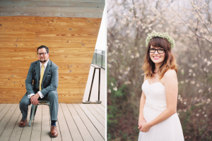 Brad and Emily Holt at their Trinity River Audubon Center Wedding