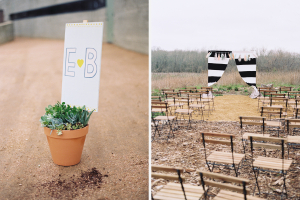 Wedding Signage by Yeti & the Beast, Chairs by Junipter Rentals