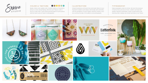 Moodboard behind the logo design of a DFW artist; a peek into the process.