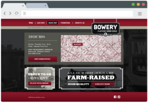 Bowery Dallas - Restaurant Web Design
