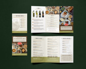 Custom Restaurant Menu Design for Dallas brand, Eatzi's