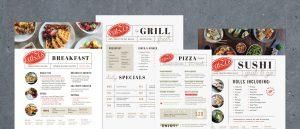 Freelance Restaurant Menu Design for Dallas-based Eatzi's