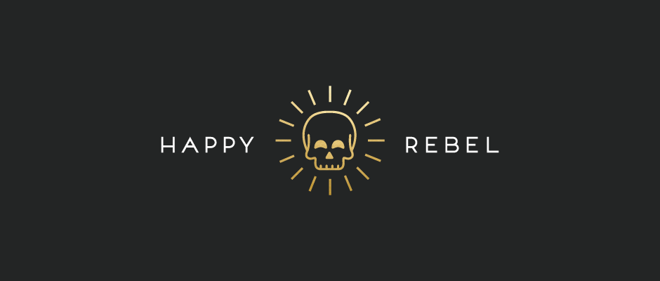 Happy Rebel Dallas Fort Worth Subscription Box Logo Design