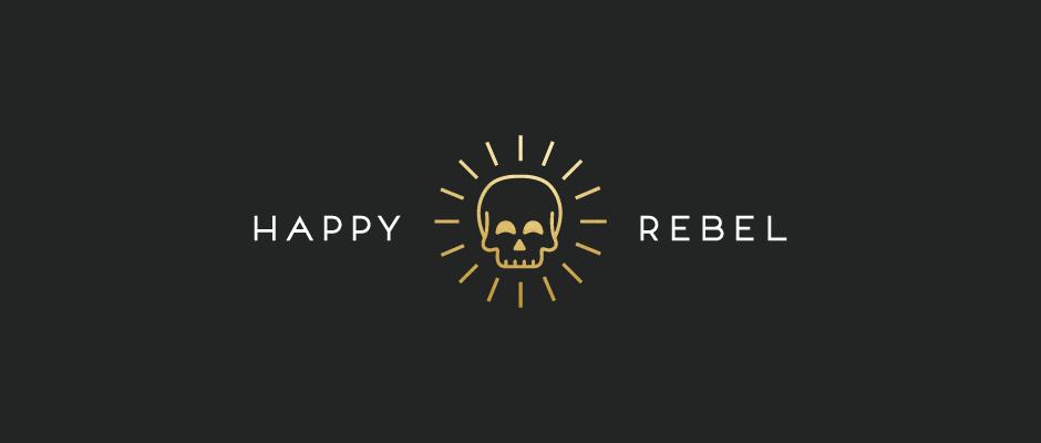 Happy Rebel Dallas Fort Worth Subscription Box Logo Design