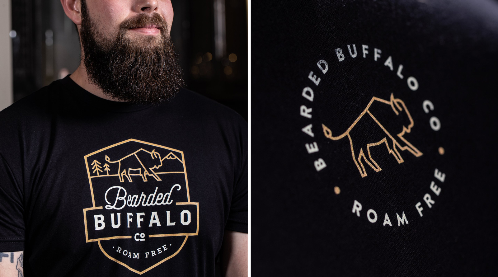 Bearded Buffalo Co Custom Tee Shirt