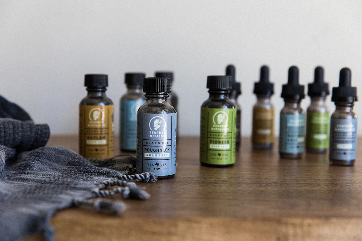 Freelance Packaging Designer, Beard Oil Detail