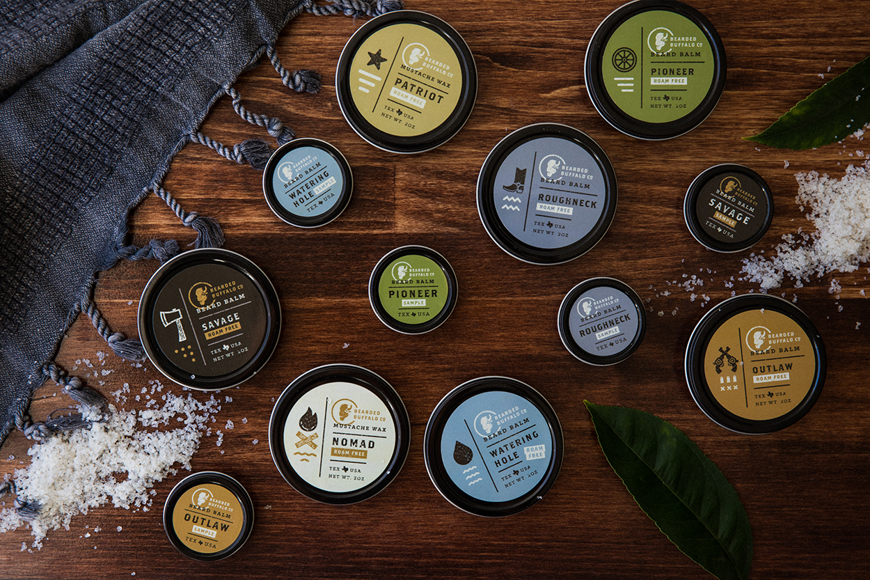 Fort Worth Mustache Wax Packaging Design