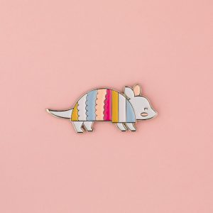 Armadillo Enamel Pin from Denton Texas
